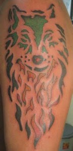lion fire tattoo designs