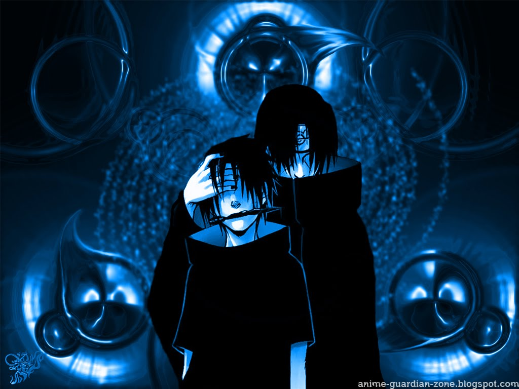Blue Black Sharingan Uchiha Brothers Wallpaper Picture