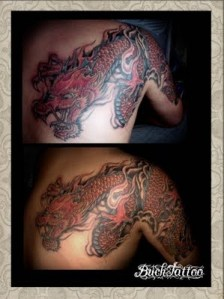 Red Dragon Tattoo Designs on Arm