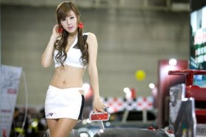 Korean Cute Racing Queen Hwang Mi Hee