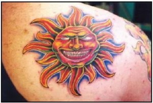 sun and stars tattoos design