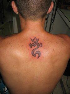 ongkara tattoo - Balinese symbol