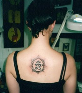 ongkara tattoo for woman