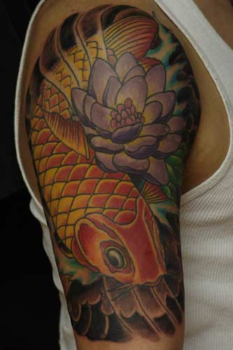 Dragon Koi Tattoo Designs.