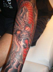 red fire dragon tattoo