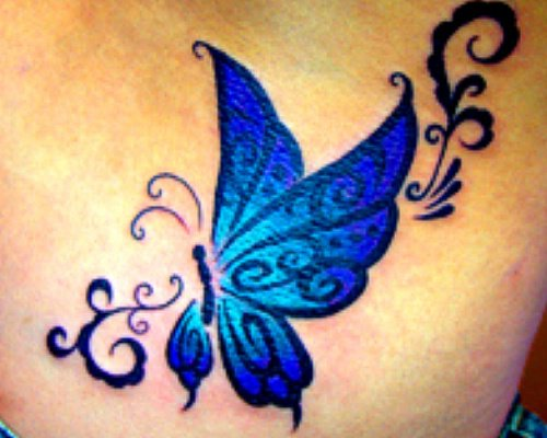 Girl tattoo best tattoo style for Butterfly breast tattoos