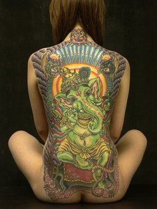 full back body tattoos for girls