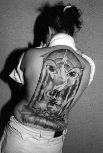 full back tattoos for girls