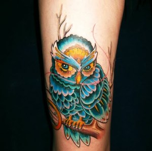Jessica sent in the above owl, done at Absolute Tattoo, Australia.