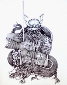 Tattoo Design Japanese Samurai or warrior.. Japanese art and motif as well